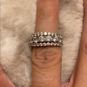 Jewelry - Diamonique, 2.15 cttw, Platinum clad on Silver